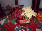 2012 Christmas Dining Room table